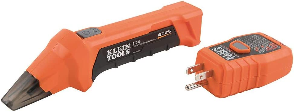 Klein Tools ET310 AC Circuit Breaker Finder with Integrated GFCI Outlet Tester - -