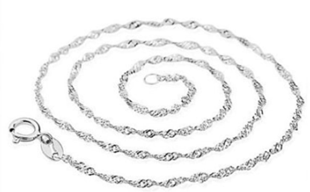 SaySure - 925 Sterling Silber Wave damen 18 inch 1MM Chain B0171BZ3FM Zubehr & Gerte Angenehmes Aussehen