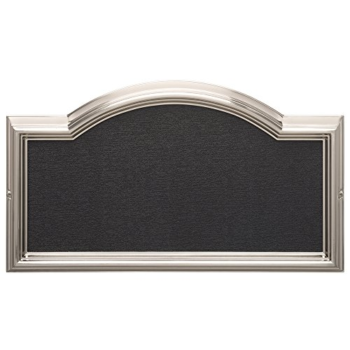 Whitehall Products Standard Wall DeSign-it Arch Plaque Frame, Brushed Nickel