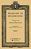 Reliquary of English Songs - Volume 1: Voice and