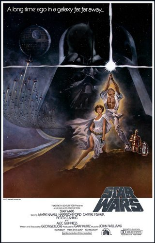 amazon com star wars movie poster mini poster 11x17 heavy stock