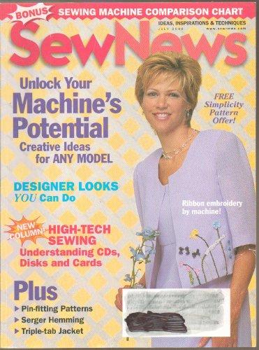 Sew Tidings Magazine - July 2000 - Bonus Issue: Sewing Machine Comparison Chart