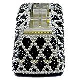 Desktop BLACK DIAMOND TAPE DISPENSER Mixed Media Bling Clear Black Crystals 1165