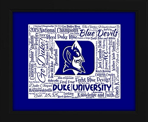 Duke University 16x20 Art Piece - Beautifully matted and framed behind glass
