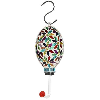 Amazon.com: Lilys Home - Comedero colgante de cristal con ...