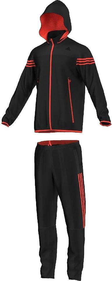 adidas TS Street - Chándal para Hombre, Color Negro/Rojo, Talla ...