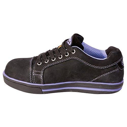 """RUNNEX Mujer Zapatos de seguridad S3""""5380Girl Star ESD ligero Zapatos para mujeres, color negro, negro, 5380"""