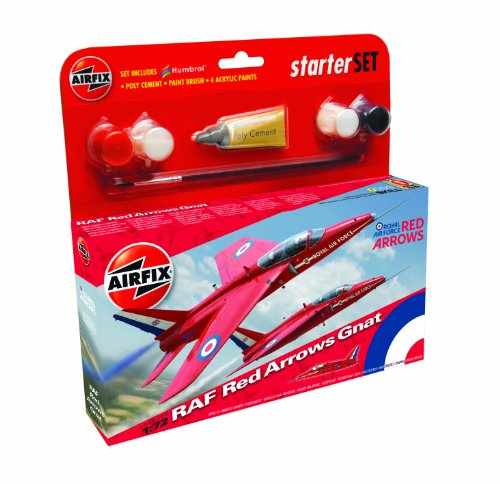 Airfix A55105 Red Arrow Folland Gnat 1:72 Scale Model Small Starter Set,...