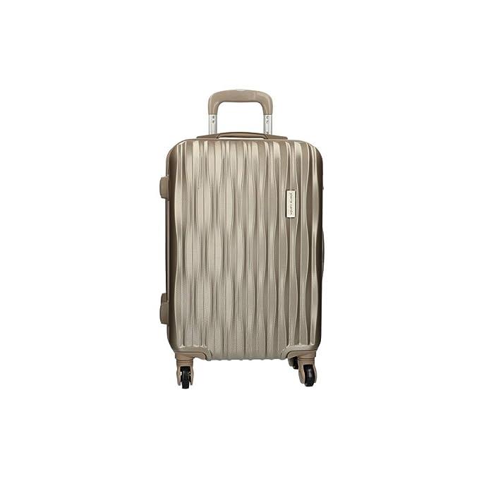 Maleta trolley rígida cabina PIERRE CARDIN bronce equipaje mano PVC VS369: Amazon.es: Ropa y accesorios