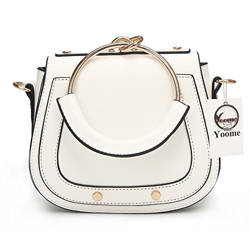 Yoome Women Punk Circular Ring Handle Handbags Small Round Purse Crossbody  Bags For Girls 1ea445aebd475