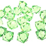 Acrylic Crystal Twelve Point Star Table Scatter, 3/4-Inch 150-Piece (Apple Green)
