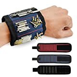 Magnetic Wristband, Pawaca 5 Row Super Strong Magnets Arm Band Adjustable Belt Wristband Tools for Small Metal Tools, Screws, Nails, Best Tool Gift for DIY Handyman Men Women