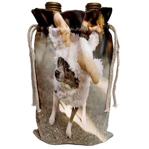 3dRose Danita Delimont - Halloween - New York City. Pet Halloween contest, Thompkins Square Park. - Wine Bag (wbg_231347_1)]()