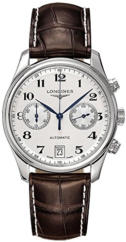 Longines Master Collection Andre Agassi Automatic Silver Dial Brown Leather Mens Watch L2.669.4.78.3