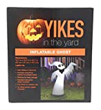 Inflatable Friendly Ghost Lighted Halloween Decoration by Yikes in the Yard Self-Inflates to 42 Inches Tall