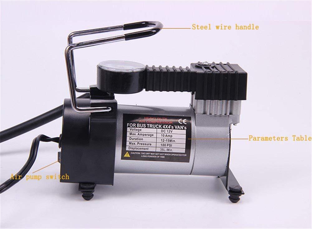 Balscw Mini Bomba de Aire/compresor de Aire del Coche/inflador eléctrico, 12V para Coches, Camas inflables, Barcos de Motor, fútbol: Amazon.es: Coche y moto
