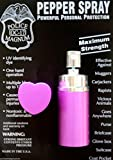 POLICE MAGNUM G'STORE MACE .75oz Self Defense PURPLE HEART SHAPED LIPSTICK PEPPER SPRAY