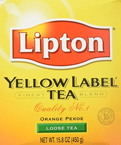 Orange Soda Label - Lipton Yellow Label Orange Pekoe Loose Tea,net weight 15.8 Oz