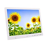 Inkach 13 Inch Digital Photo Frame with Motion Sensor High-Definition Electronic Digital Picture Frames LCD Display (White)