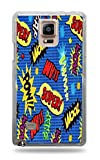 Comics Action Words Zap Pow Wooz Clear Hardshell Case for Galaxy Note 4
