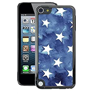 A-type Arte & diseño plástico duro Fundas Cover Cubre Hard Case Cover para Apple iPod Touch 5 (Flag Stars Patriotism Watercolor Blue)