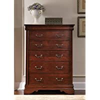 Liberty Furniture Industries 709-BR41 Mahogany Stain Finish Carriage Court 6 Drawer Chest, 40 x 18 x 54