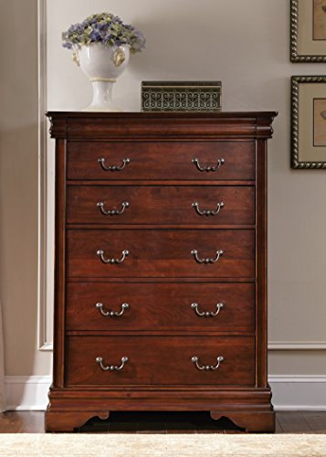 Liberty Furniture Industries 709-BR41 Mahogany Stain Finish Carriage Court 6 Drawer Chest, 40 x 18 x ()