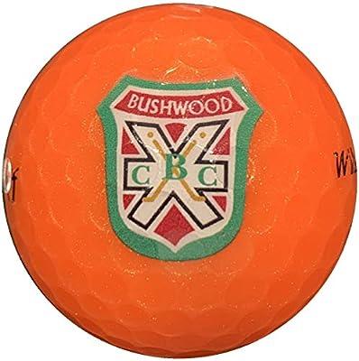arcollectibles Caddyshack Style Sleeve of Three Bushwood Country Club Logo Orange Golf Balls