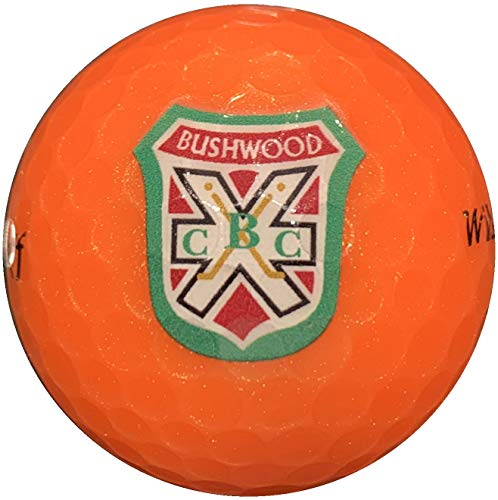arcollectibles Caddyshack Style Sleeve of Three Bushwood Country Club Logo Orange Golf Balls