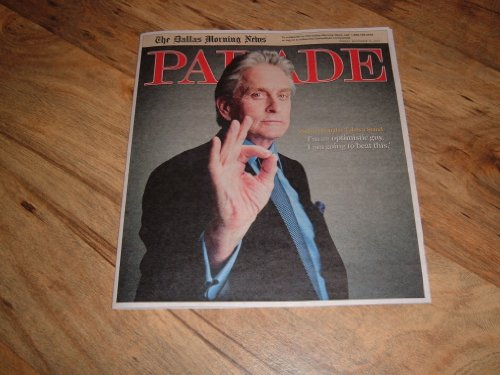 Parade magazine, September 19, 2010-Michael Douglas actor fighting cancer & Starring in movie