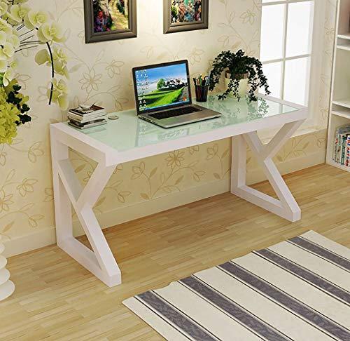 Mesa de ordenador escritorio de la computadora, escritorio casero simple moderno escritorio de la computadora de oficina, escritorio de oficina templado mesa de cristal juego de ordenador de aprendiza