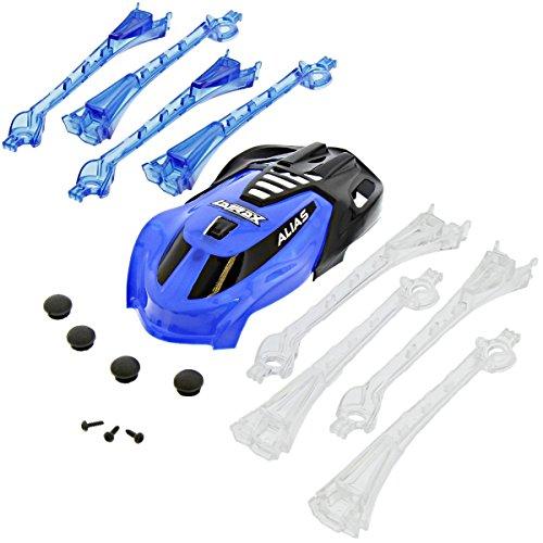 Traxxas LaTrax Alias Quadcopter BLUE CANOPY & LED LENS, NON SKID FEET Screws (Canopy Latrax)