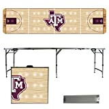 NCAA Texas A&M University Aggies Basketball Court Version Folding Tailgate Table, 8'