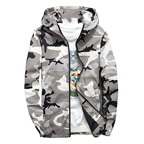 LISTHA Camouflage Hooded Jacket Mens Hoodie Waterproof Windproof Outdoor Coat