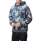Clearance Sale for Men Tops.AIMTOPPY Men's Autumn Long Sleeve Print Stitching Pocket Hoodie Hooded Sweatshirt Top Tee Outwear