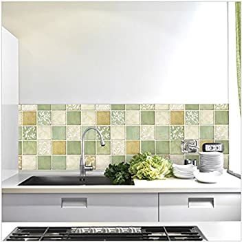 2015 vintage classic mosaico carta da parati per bagno parete ... - Carta Da Parati Adesiva Per Bagno
