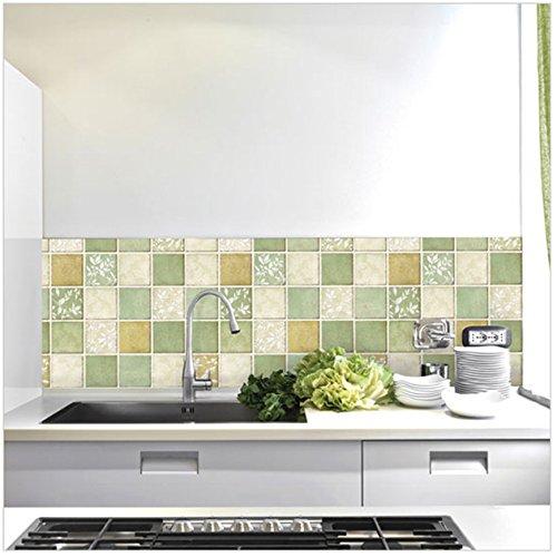 2015 Vintage clásico Papel tapiz Mosaico resistente al agua de baño de azulejos Adhesivos azulejo de la cocina decoración del hogar Etiquetas Papel tapiz: ...