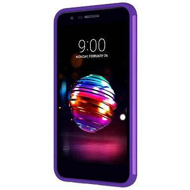 LG K30 Case, LG Phoenix Plus/LG Harmony 2/LG K10 2018/LG Premier Pro Case,MAIKEZI Hybrid Dual Layer TPU Plastic Phone Case for LG K10 Plus/LG K10 ...