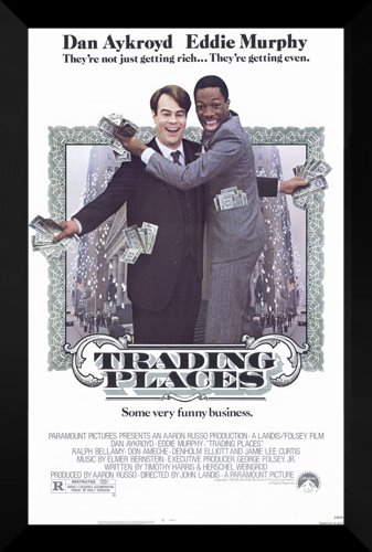 Trading Places FRAMED 27x40 Movie Poster: Eddie Murphy