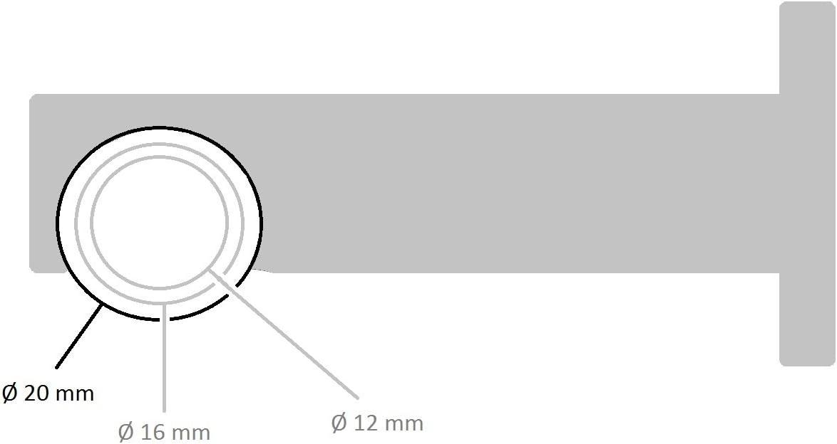 inkl /Ø 20 mm 120 cm Tilldekor Innenlauf Gardinenstange IBIZA 1-Lauf anthrazit Tr/ägern und Gleitern