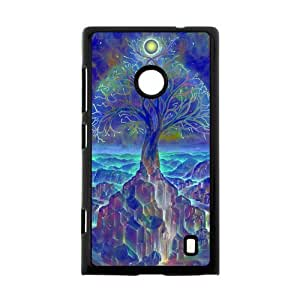 Hot Totem Design Theme Case Cover for Nokia Lumia 520- Personalized Hard Cell Phone Back Protective Case Shell-Perfect as gift