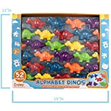 Boley Alphabet Dinosaur Baby Toys - 52 piece educational dinosaur toys with pull apart upper and lower case letters makes these the ideal alphabet toys!