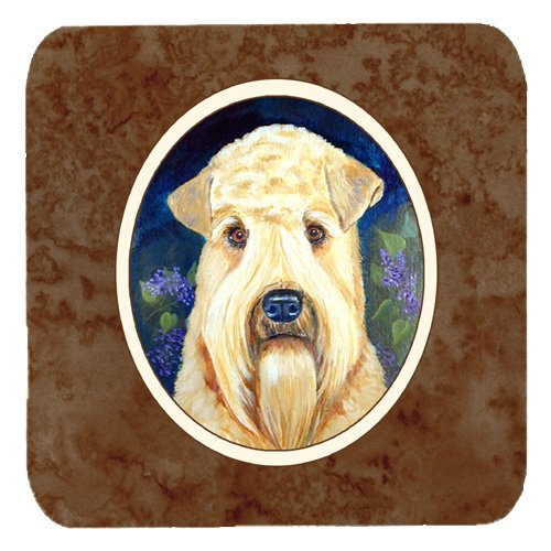 Carolines Treasures 7254FC Wheaten Terrier Soft Coated Foam Coaster, Set of 4   B01KTQIWPY