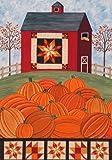 Fall Harvest Pumpkin Barn House Flag 28 x 40