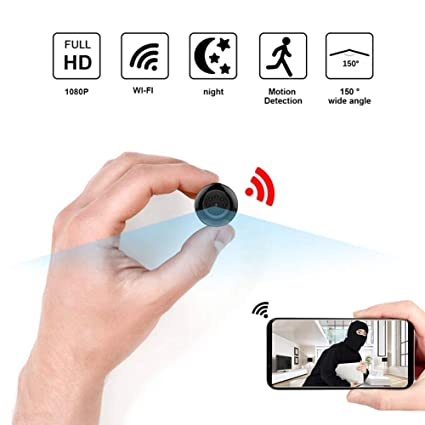 YEXIN 1080P HD WiFi Hidden Camera, Small Wireless Home Security Surveillance Cameras with Night Vision