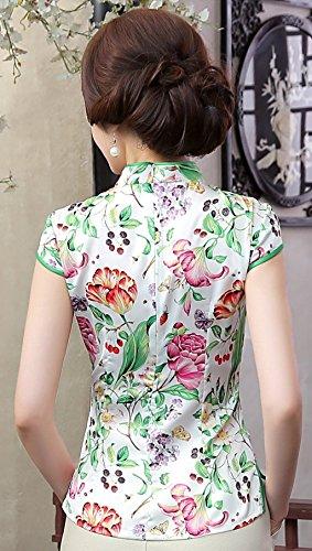 8b0dc5c6402c9 Shanghai Story Women s Faux Silk Tang Suit Chinese Shirt Blouse Top ...