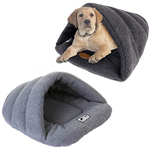 WXLAA Soft Warm Pet Sleeping Bed Mat Cat Dog Winter Cozy Washable Cushion Bed Pad for Puppy Kitten Rabbit Pet Nest Cave House, Grey ()