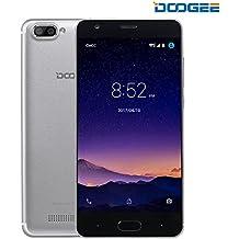 "Unlocked Cell Phones, DOOGEE X20 Smartphone Unlocked Android 7.0-5.0"" HD IPS Display - 1GB RAM + 16GB ROM - 5MP Dual Cameras - 3G Unlocked Smartphones - Silver"