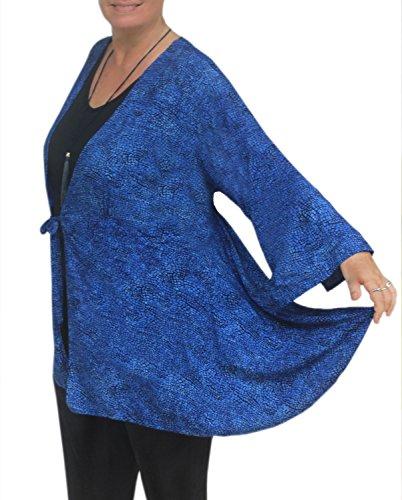 PLUS SIZE Women's Kimono Style Tunic Cardigan, One Plus Size 1x-3x, Handmade