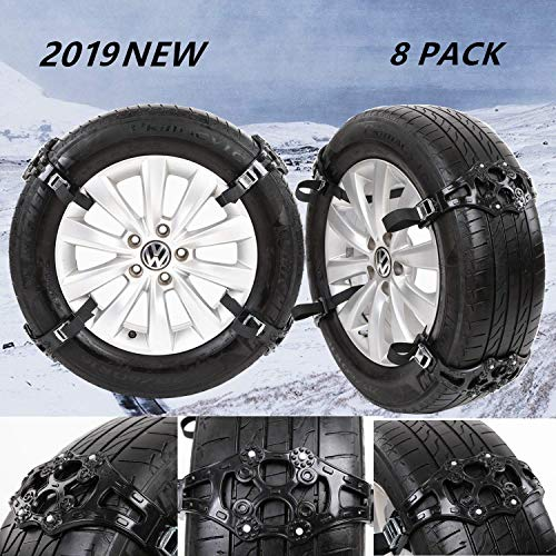 JOJOMARK Tire Chains Snow Chains for Cars/SUV/Truck/ATV Anti-Skip for Safety